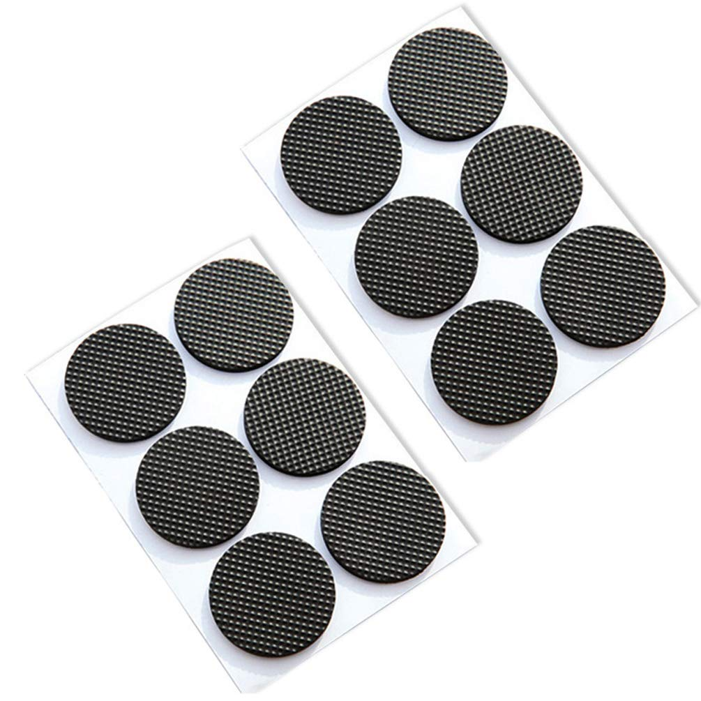 Round Square Shape Self Adhesive, Non-Slip Furniture Pads, Sofa Table Chair Sticky Floor Protector - Round by Sforza (Image #7)