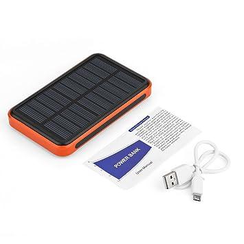 Cargador Solar Power Bank 50000mAh, Cargador portátil con una entrada y 2 puertos USB de