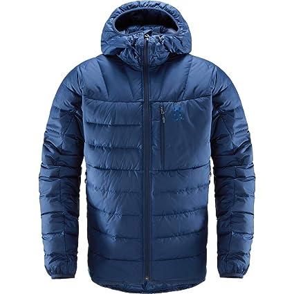 Haglöfs Chill Down Hood Chaqueta de Plumas, Hombre, Tarn Blue, XS