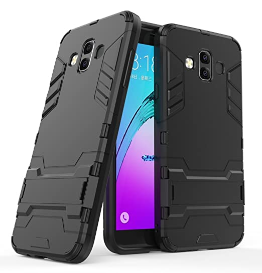 sports shoes 61859 42ad8 Samsung Galaxy J7 Duo 2018 Case, FoneExpert Shockproof Rugged Impact Armor  Slim Hybrid Kickstand Protective Cover Case for Samsung Galaxy J7 Duo 2018