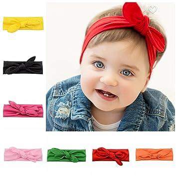 Baby Kinder Mädchen Kleinkinder Blumenschleife Haarband Turban Knoten Kaninchen