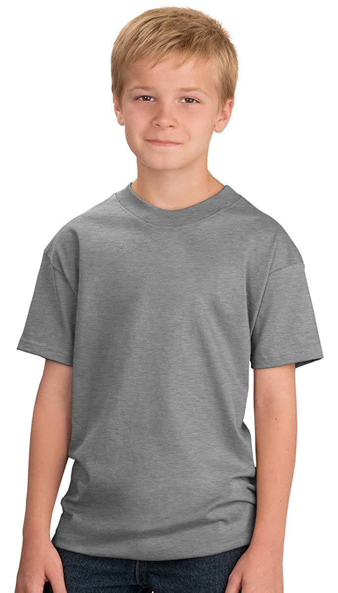PC61Y Tee Athletic Heather Port /& Company Youth T-Shirt