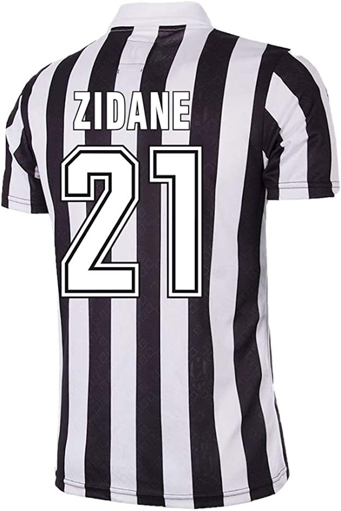 Amazon Com Copa Juventus Zidane 21 Home Retro Jersey 1992 1993 Clothing