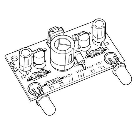 Kemo B003 Blinker Wechselblinker Bausatz Für 6 12 V Dc Zum Anschluss Von Glühlämpchen Oder Leds Taktfrequenz Einstellbar Ca 1 3 X Pro Sekunde Gewerbe Industrie Wissenschaft