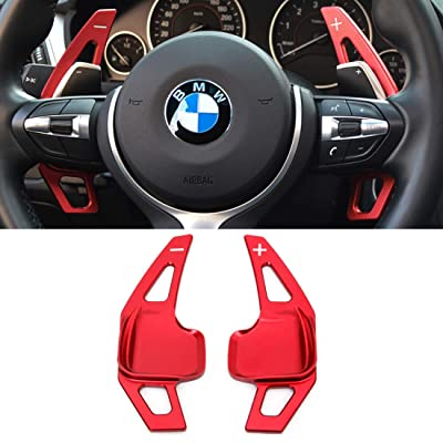 For BMW Paddle Shifter Extensions,Jaronx Aluminum Metal Steering Wheel Paddle Shifter(Fits: BMW 2 3 4 X1 X2 X3 X4 X5 X6 series,F22 F23 F30 F31 F33 F34 F36 F32 F15 F16 F25 F26 F48 F39) -Red: Automotive