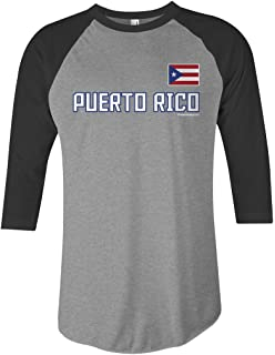 Threadrock Kids Puerto Rico Baseball Youth T-shirt Puerto Rican Team