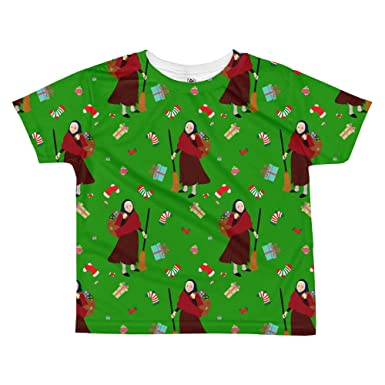 Christmas Witch Befana All Over Kids Sublimation T Shirt Top