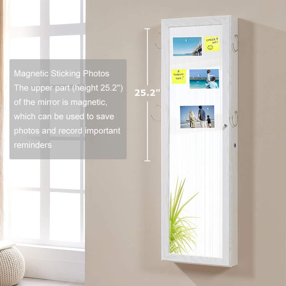 Amazon.com: GISSAR Joyería Espejo Armario de pared sobre la ...