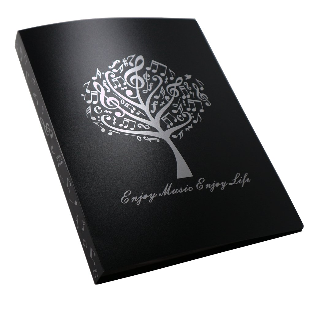 MOREYES Music Folder Song Sheet Holder Clef Paper Storage For A4 Size Paper With 40 Pockets (Music Tree)