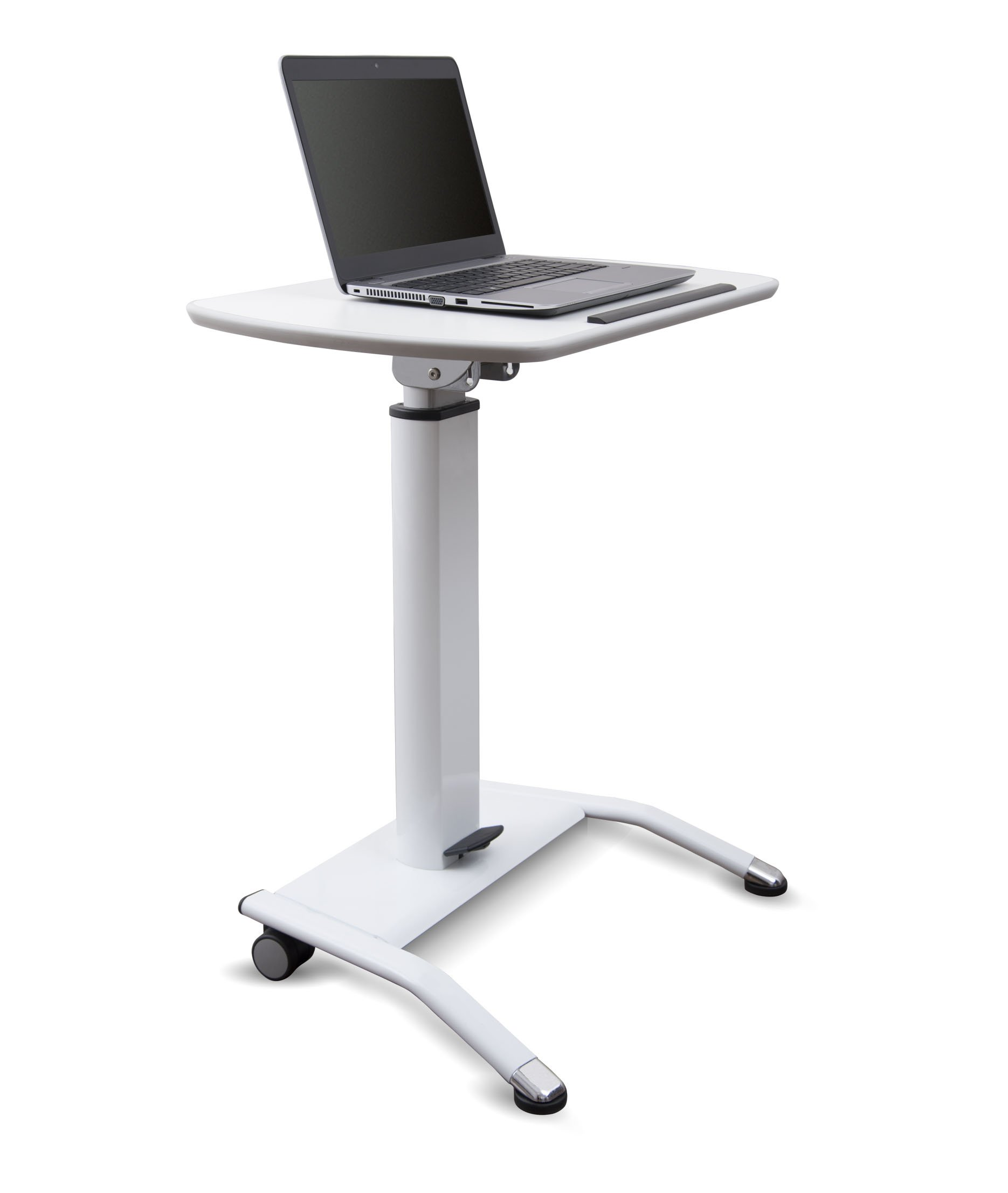 Pneumatic Adjustable-Height Lectern (White) by Stand Up Desk Store (Image #4)