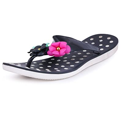 7118a0d0906 VROOMFY Casual Black Women s Slipper  Buy Online at Low Prices in ...