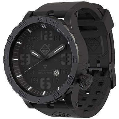 Hazard 4 Heavy Water Diver Titanium Tritium Reloj Negro PVD Negro Esfera Blanco Gráficos BBRB: Amazon.es: Ropa y accesorios