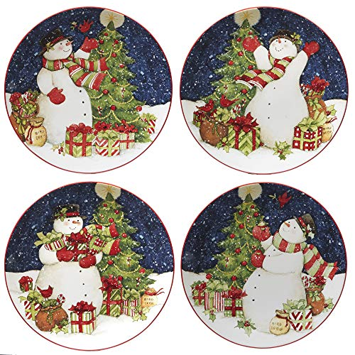 1eb75581b37 Certified International 22840SET4 Starry Night Snowman 11