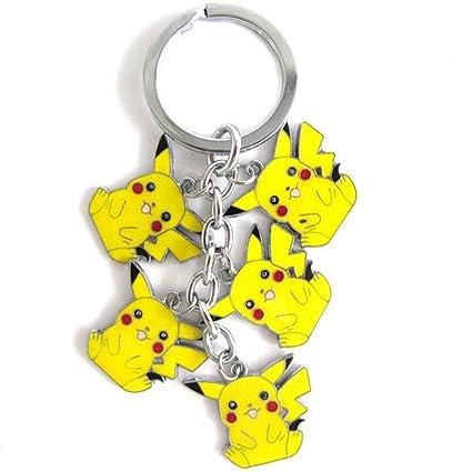 Cartoon Pokemon Pikachu 5 colgantes colgante llavero llavero ...