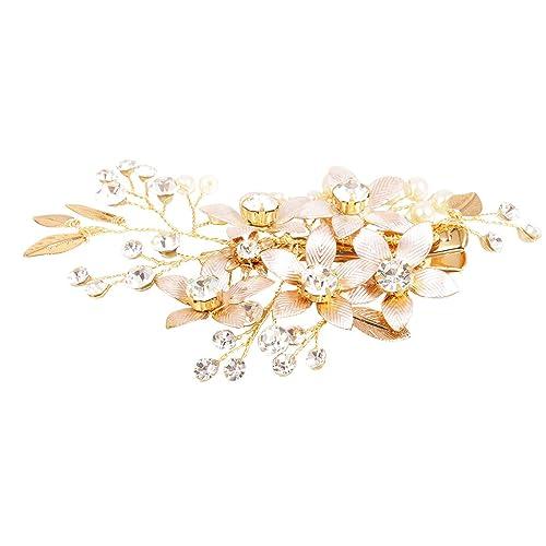 Neueste Blume Haarspangen Diamant Kristall Haarnadel Haarspangen Legierung Großen Haarnadel Frauen Mädchen Elegante Haarspangen Zubehör Haar-accessoires Für Damen