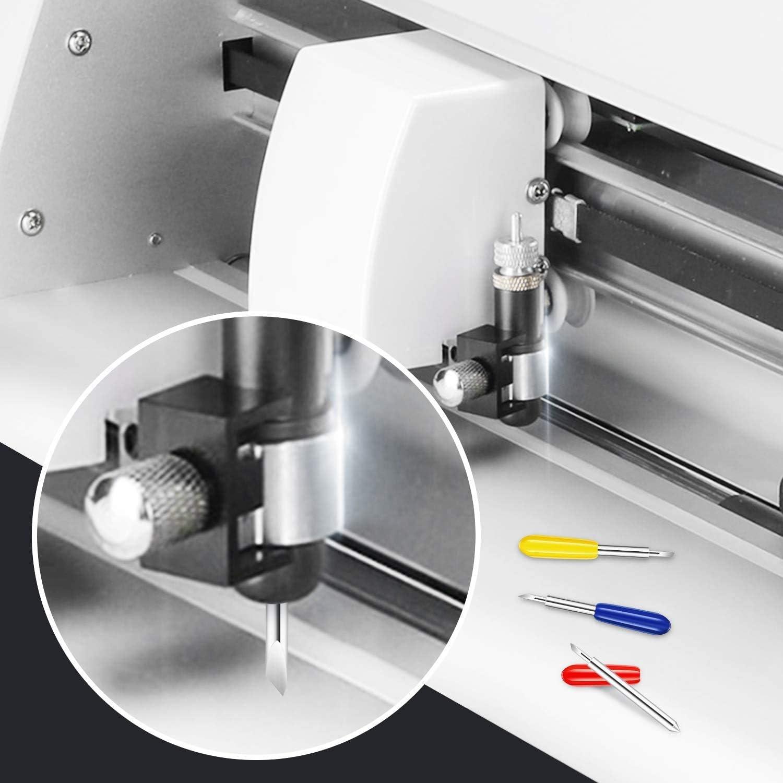 SNOWINSPRING 100 Cuchillas de Corte, para Explore Air/Air 2 Maker Expression 30/40/60 Grados de Cuchillas de Repuesto para Plotter de Corte: Amazon.es: Bricolaje y herramientas