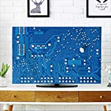PRUNUS TV dust Cover Close up of Computer Circuit Board TV dust Cover W20 x H40 INCH/TV 40''-43''
