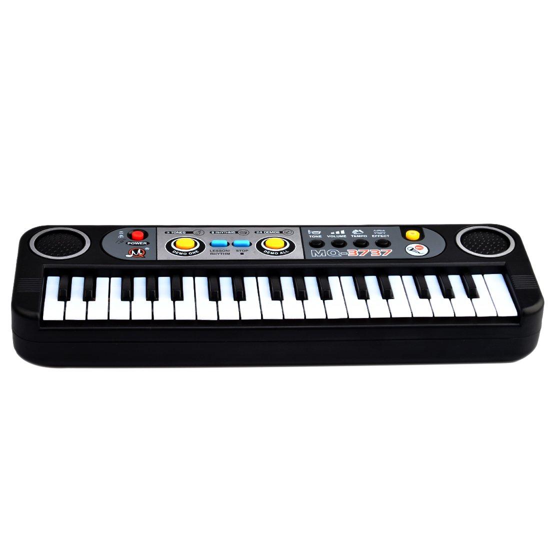 Piano para niños, Foxom 37 Teclas Electrónico Pequeña Teclados Piano con Micrófono Piano Juguete Musical Regalo Para Niños Bebés Principiantes