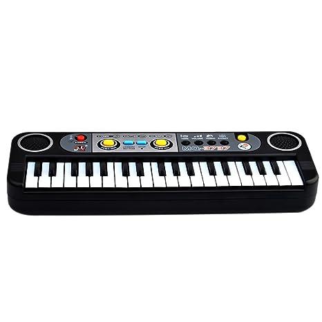 Piano para niños, Foxom 37 Teclas Electrónico Pequeña Teclados Piano con Micrófono Piano Juguete Musical
