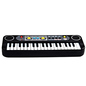 Piano para niños, Foxom 37 Teclas Electrónico Pequeña Teclados Piano con Micrófono Piano Juguete Musical Regalo Para Niños Bebés Principiantes: Amazon.es: ...