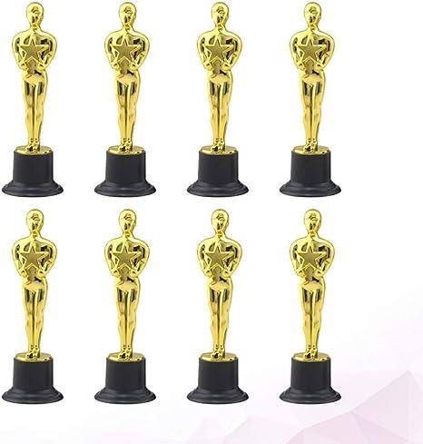 NUOBESTY trofeos de premios Oscar de Oro premios de recompensa para Fiestas Celebraciones Ceremonia premios Deportivos 8pcs: Amazon.es: Hogar