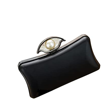 Amazon.com: Ownstyle Pearl 19cm Box Clutch Purse Frame Fashion ...