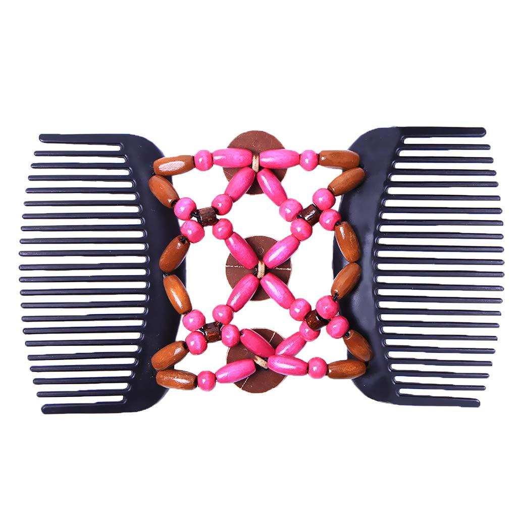 Baoblaze Vintage Brautschmuck Haarschmuck Haarkamm Schmuck Mettall Haarklammer Haarspange Haarclips mit Holzperlen