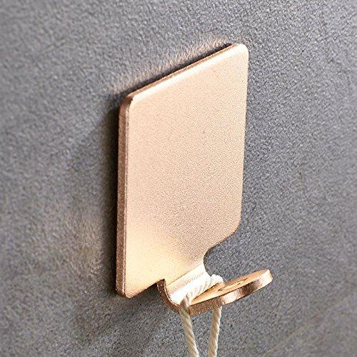 Desde el punzón Renovatsh Gancho colgador de pared de pared de aluminio espacio creativo la puerta del baño Ropa armario...