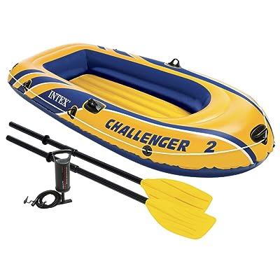 Intex Challenger 2, ensemble de bateau gonflable pour 2 personnes