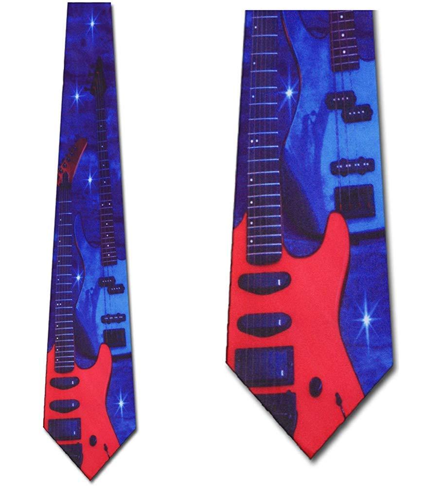 Guitarra eléctrica roja y azul para hombre Música rock and roll ...