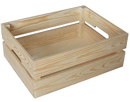Cajas de madera (swz40) con asas PLAIN madera Decoupage Big Make It Vintage