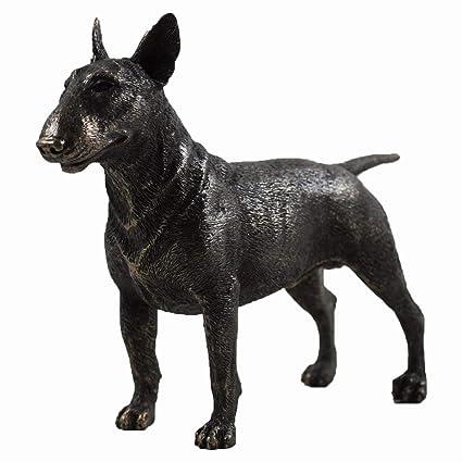 Bull Terrier perro grande estatua escultura de bronce fundido fría Idea de regalo de mascotas H13