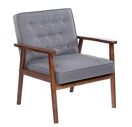 Amazon.com: Lounge Chair,Single Sofa Retro Modern Fabric ...