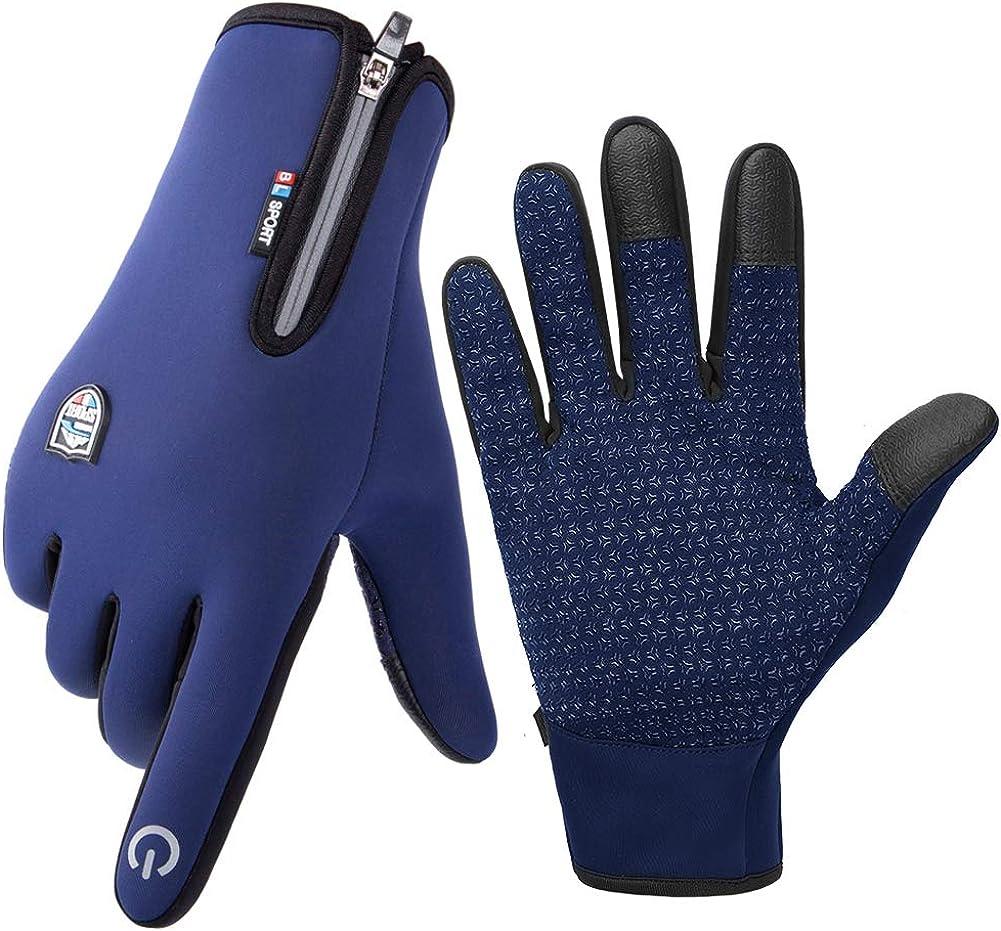 Skysper Touchscreen Handschuhe Sport Fahrradhandschuhe Winter Radsporthandschuhe Rutschfeste Wasserdichte Fitness Handschuhe Für Radsport Wandern Bekleidung