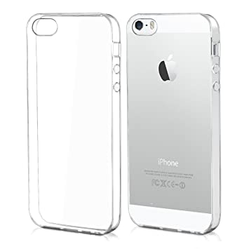 kwmobile Funda compatible con Apple iPhone SE / 5 / 5S - Carcasa de TPU para móvil - Cover trasero en transparente