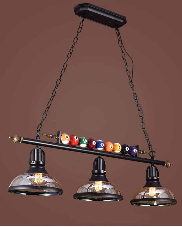 La decoración de la lámpara de billar con 3 cortinas de metal, metal ajustable E27 Negro billar Mesa de billar luces ...