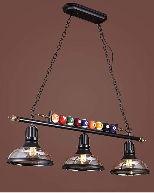 La decoración de la lámpara de billar con 3 cortinas de metal ...
