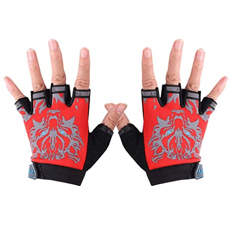 BESPORTBLE Kinder Handschuhe Half Finger Kinder Radfahren