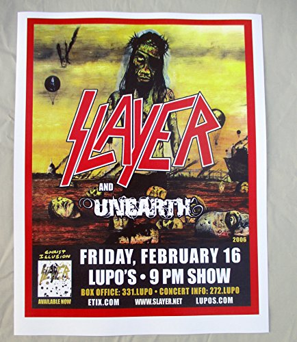 2007 Slayer & Unearth Concert Poster Christ Illusion (2007 Concert Poster)