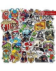Gxhong 50 stycken halloween klistermärken, vattentäta vinylklistermärken, graffiti klistermärken, halloween teman scrapbooking klistermärke skräck natt klistermärken, graffitti dekaler för laptop bagage skateboard