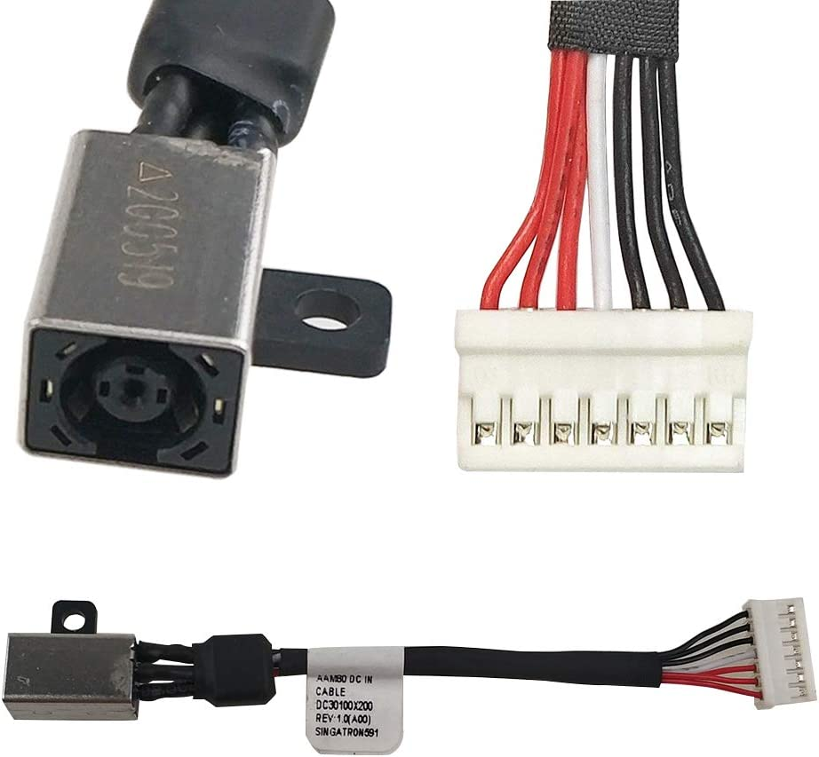 HengXC New DC Jack for DELL XPS 15 9550 9560 P56F Precision 5510 Series DC in Cable P/N DC30100X200 064TM0 Picture 2 Kinds of Interface Compatible