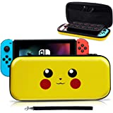 Haobuy Nintendo Switch Carrying Case,[Design for Let's Go Pikachu/Eevee Pouch][Full Protective] for Pokemon Switch Case,Deluxe Travel Case Bag for Nintendo Switch Joy-Con & Accessories