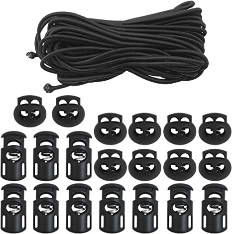 Amazon Com Dakuan 20 Pcs Plastic Cord Locks Elastic Bungee