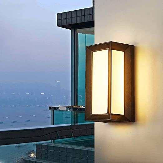 Alto brillo 12W LED Lámpara pared luz cálida Europeo Impermeable Exterior Paisaje Aplique pared Linterna Clásico Creativo Patio Villa Jardín Porche Aplique pared American Terrace Garaje Entrada Decora: Amazon.es: Hogar