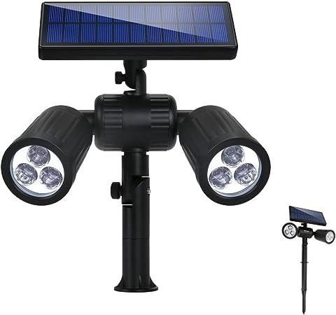 Lampe Solaire LED Luminaires de Jardin Extérieur Géothermique Encastré IP65