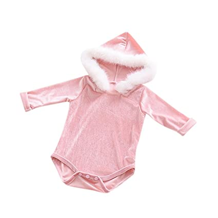 0c8b82a9f Amazon.com  Gotd Toddler Infant Baby Girl Boy Clothes Winter Long ...