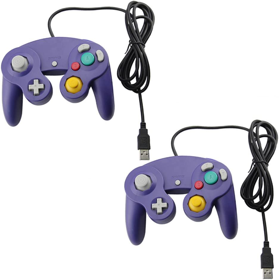 Amazon com: 2 Gamecube Style USB Wired Controllers