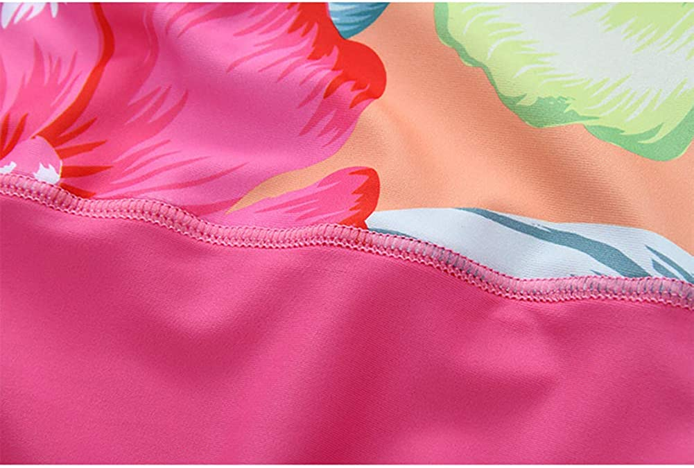 Baby Infant Toddler Girls One Piece Long Sleeve Rashguard Shirt Princess Floral Swimwear Bathing Suit UPF50+