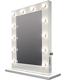 Ammber beleuchteter make up kosmetikspiegel mit tischlampe - Amazon schminkspiegel ...
