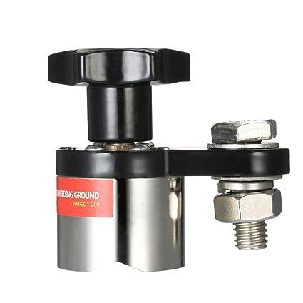 lzndeal Pinza de masa magnética soporte magnético de brida de soldadura (de 200 a pequeña